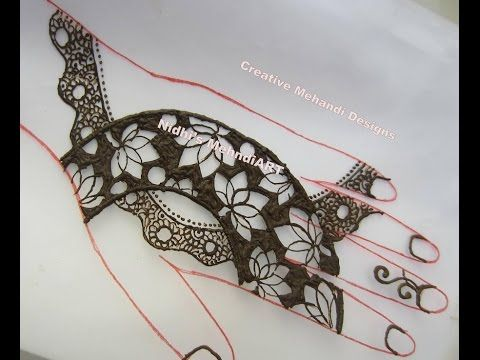 Youtube Lotus Flower Strip Henna Mehndi Design Unique Latest