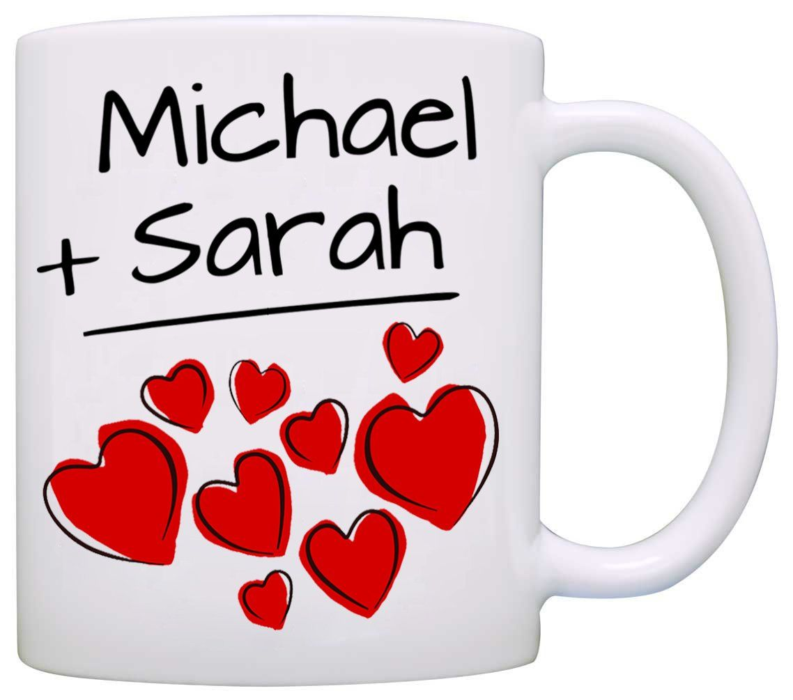 Personalized His And Her Couples Wedding Gift Mug, I Love
