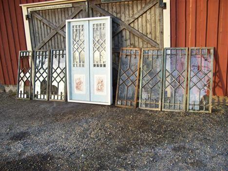 blyinfattade fönster säljes