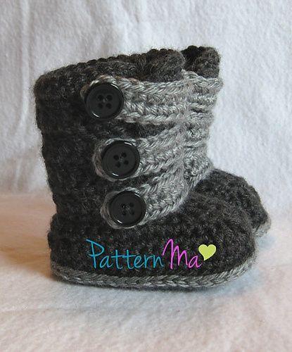 Ravelry: Strappy Baby Boots pattern by Rebecca PatternMa | Missy ...