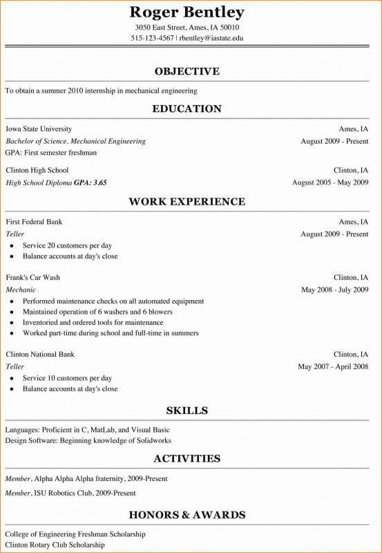 Pin On College Resume Template