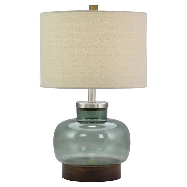 Aspire Home Accents Sullivan Glass Table Lamp From Hayneedle Com Glass Table Lamp Lamp Modern Table Lamp