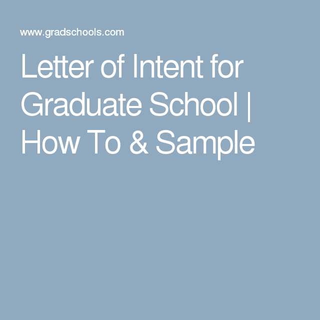 letter of intent grad school samples