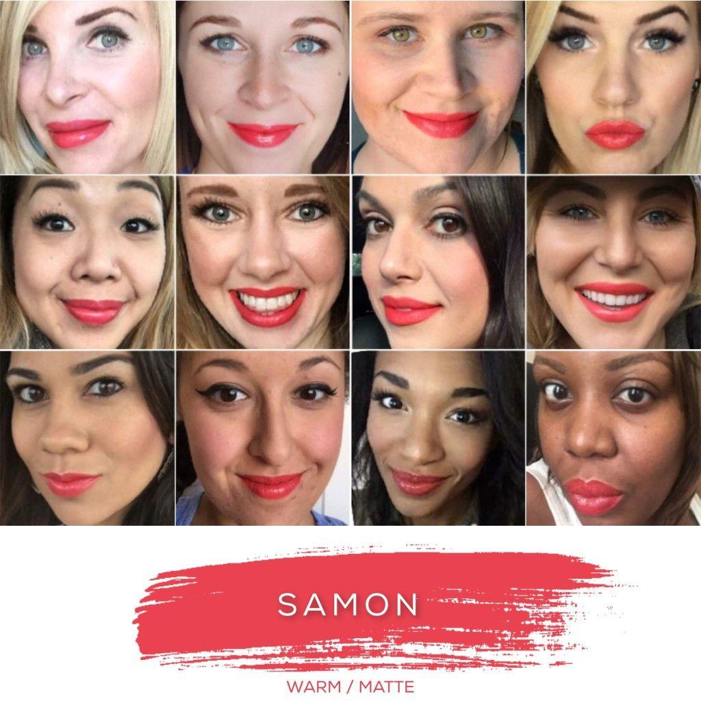 How fun is this matte salmon color?! Samon LipSense