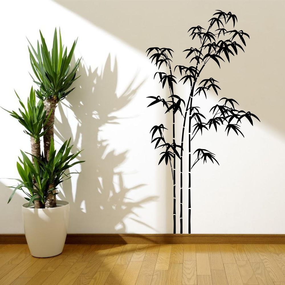 Perfect BAMBOO TREE GRASS WILD JUNGLE WALL STICKER DECAL MURAL STENCIL VINYL  TRANSFER Part 13