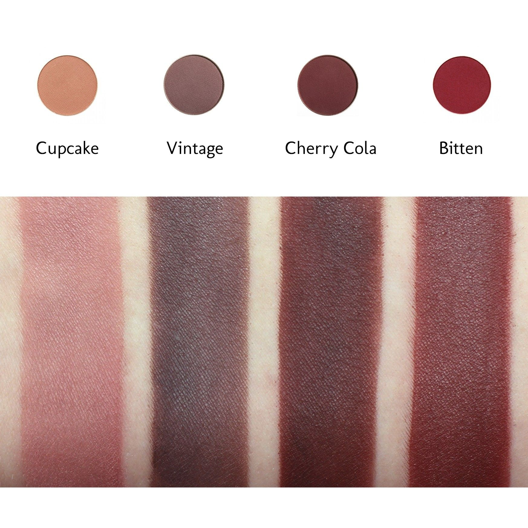 Cherry Cola Round Pan Makeup Geek Eyeshadow Makeup Geek Swatches Makeup Geek