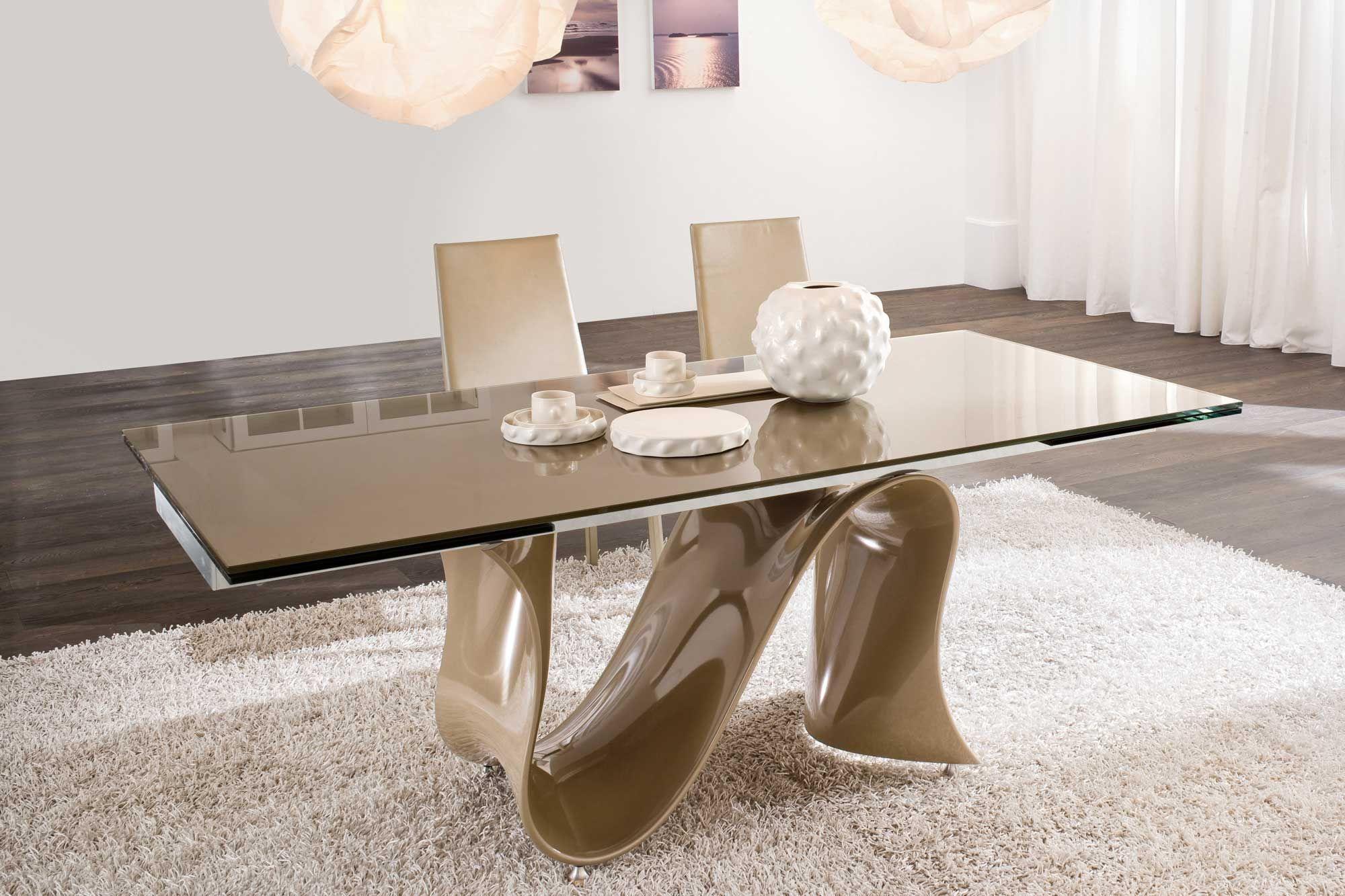 Glas Top Esszimmer Tische Modern Glas Esstisch Sets Glas Esstisch ...