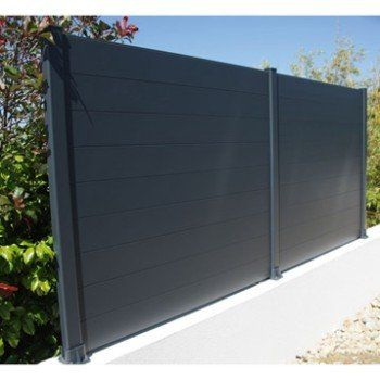 Lame De Cloture Aluminium Pleine Klos Up Gris Zinc H 15 X L 145 Cm Cloture Aluminium Cloture Maison Amenagement Jardin