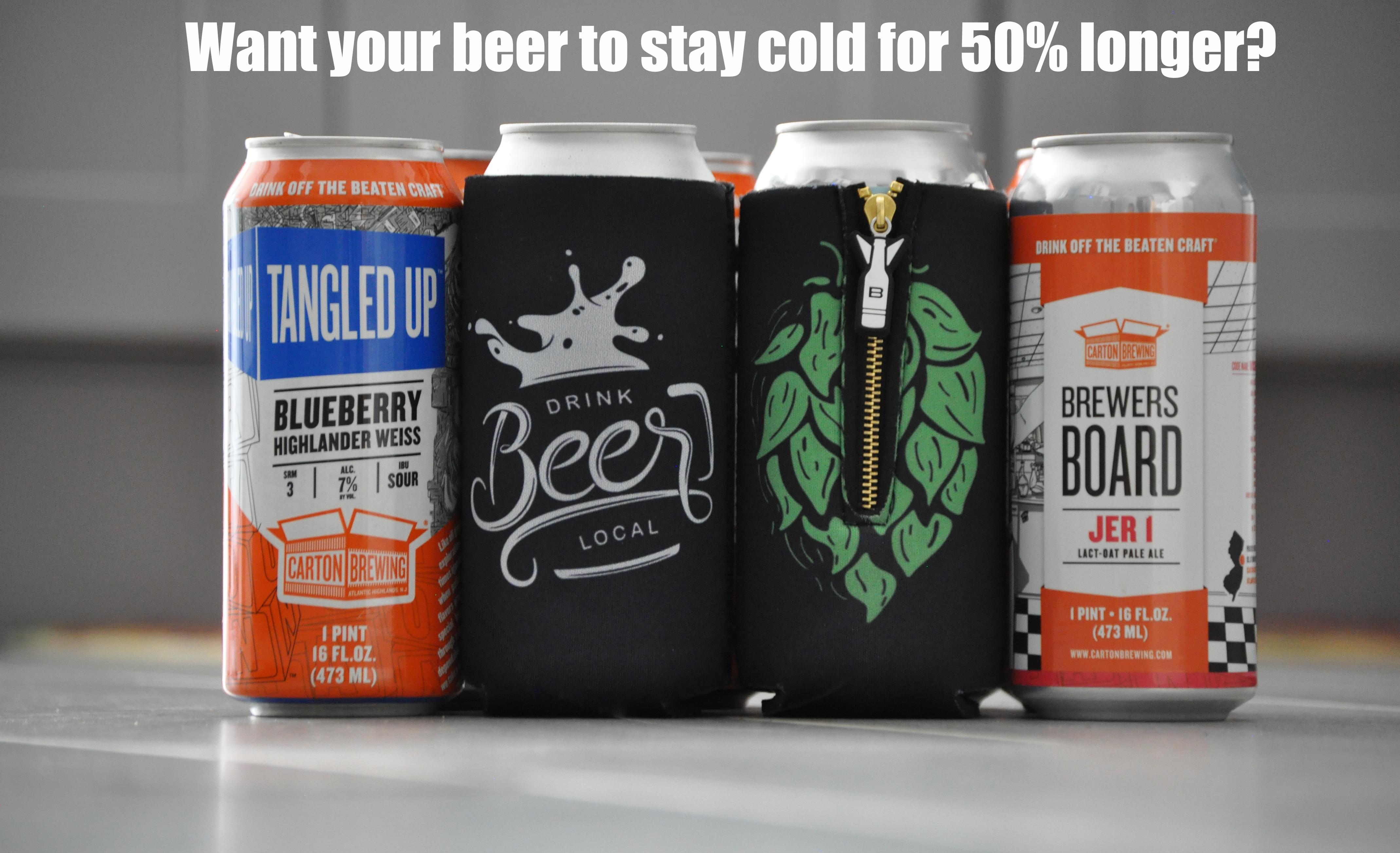 Big Hop 16oz Beer Sleeve Cooler | Drink Local Beer Hugger in 2019
