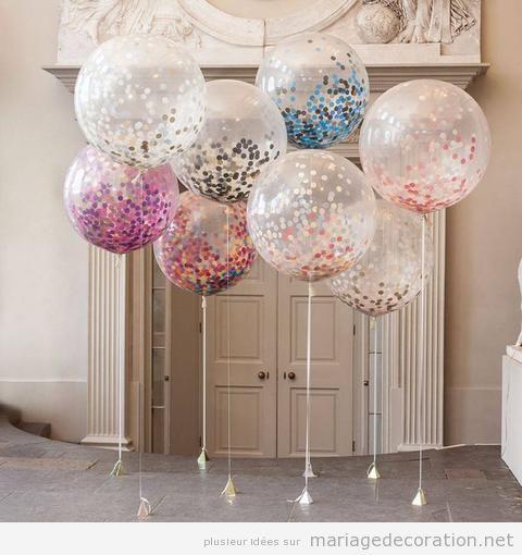 Idees Decorer Salle Mariage Avec Des Ballons De Helium 2 Deco Mariage Decoration Anniversaire Anniversaire De Mariage