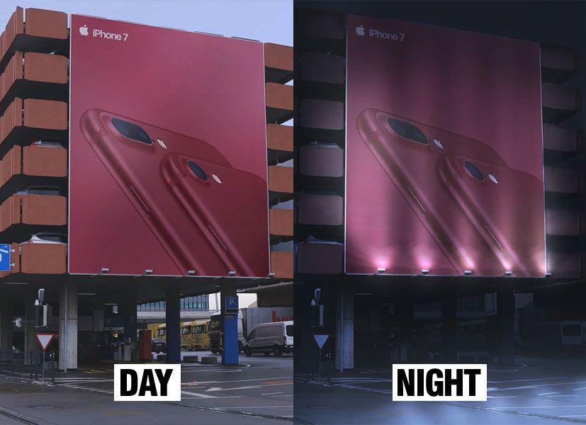 Free Day Night Outdoor Building Billboard Mockup Psd Billboard Mockup Outdoor Buildings Mockup Psd
