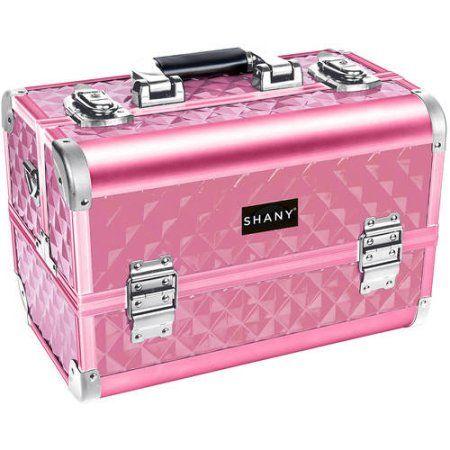 Shany Premier Fantasy Collection Makeup Artists Cosmetics Train Case Pink Diamond Walmart Com In 2020 Cosmetic Train Case Train Case Large Makeup Case