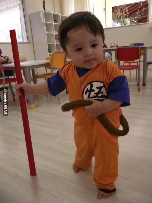 Cutest Cosplay Ever Funky Baby Clothes Baby Cosplay Goku Costume