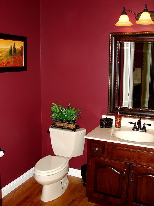 Images On wall color powder room