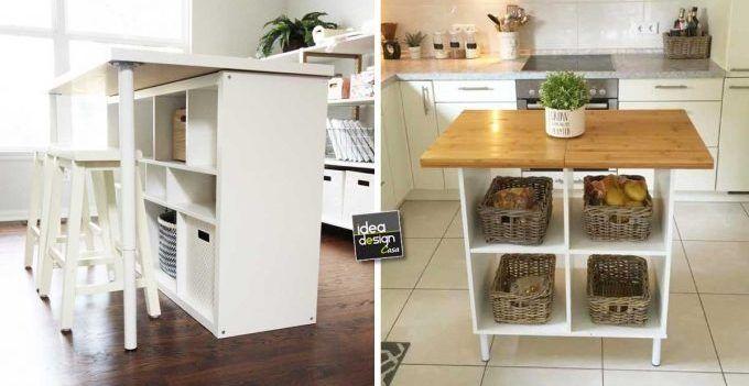 Cucine Shabby Chic Ikea.Ikea Cucine Trasformare Uno Scaffale Ikea In Un Isola Per