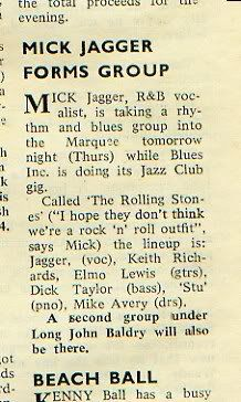 50 years ago! ROLLING STONES!