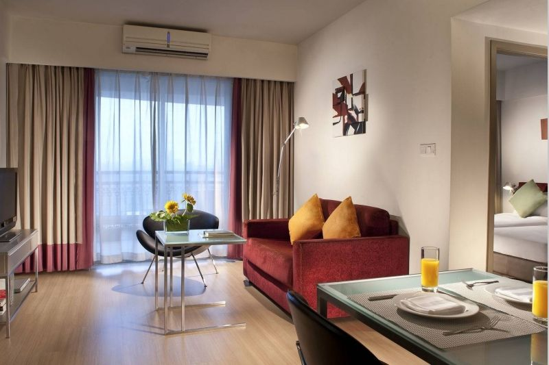 Citadines Biyun 2Bedroom Deluxe Living room bedroom