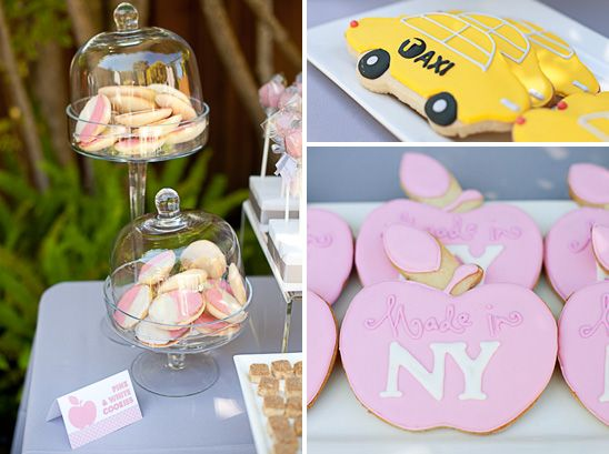For An Nyc Themed Baby Shower Pink And Silver New York Baby