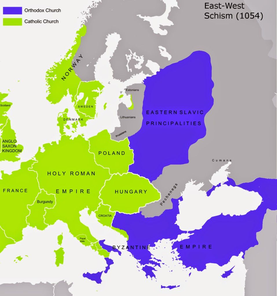 East west schism in europe 1054 ad maps pinterest holy east west schism in europe 1054 ad early christianchristian sciox Choice Image