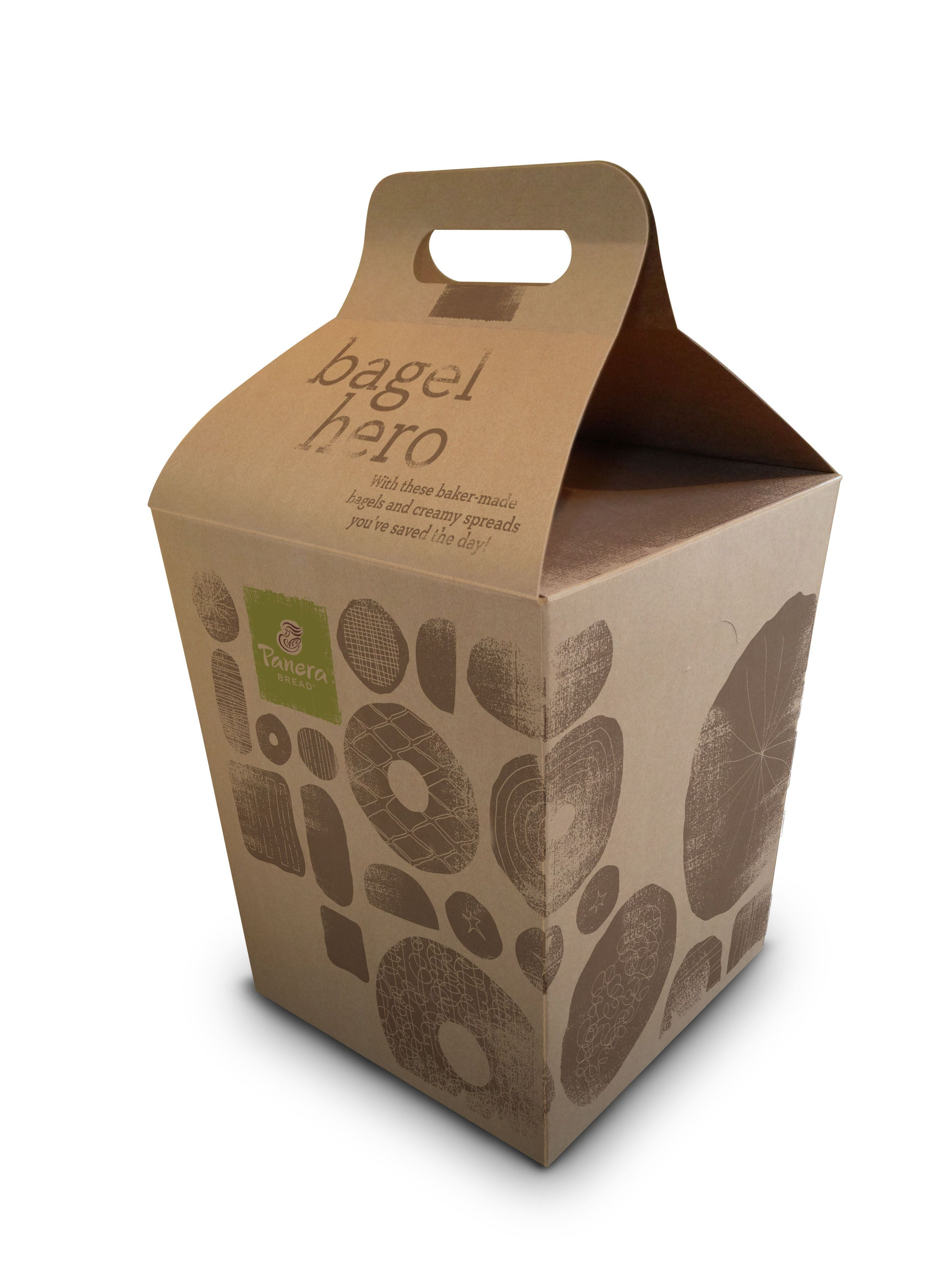 Panera Bread Coffee Box Captivating Mitre Agency  Panera Bread  Packaging  Bagel Pack  Mitre Design Ideas