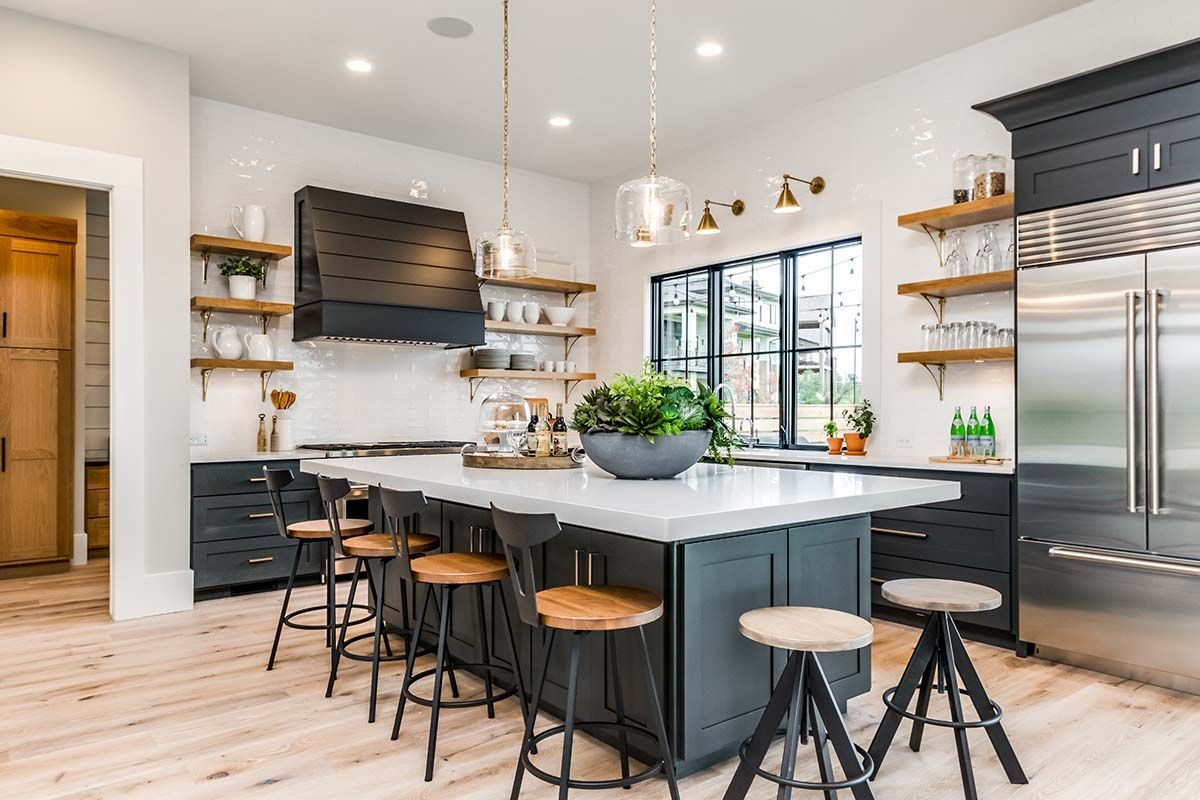 urban farmhouse exudes a refreshingly chic style in the