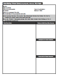 NotemakingReferenceTemplate Note Taking Templates | High School HS ...
