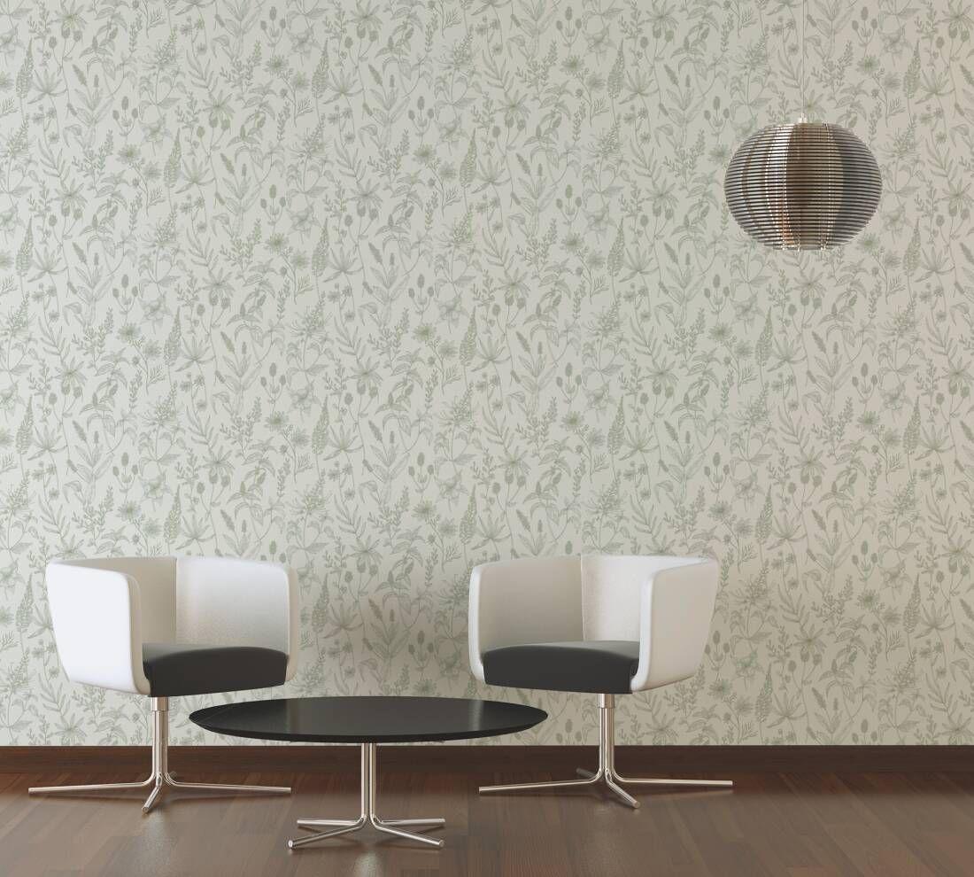 A S Création Tapete Trendwall 373635 Wohnzimmer Weiß Wohnzimmer Tapeten