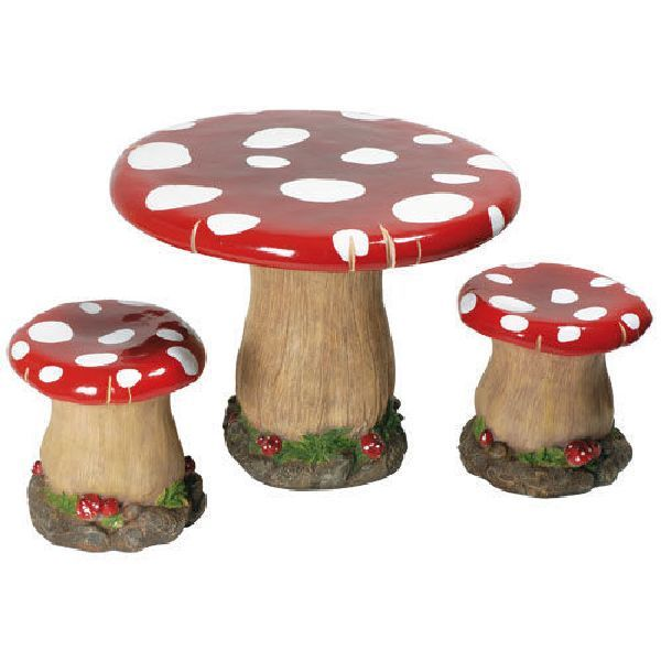 Woodworker S Toadstool Table Stools With Carved Stems Kids