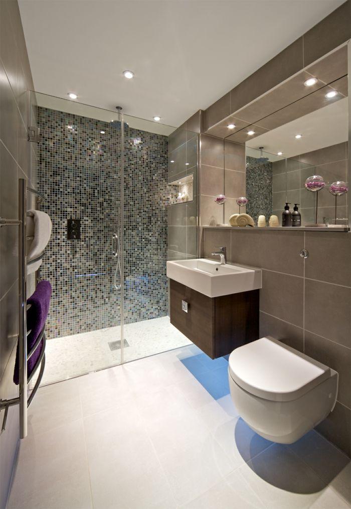 1001 ideas de duchas de obra para decorar el ba o con - Ducha de gresite ...