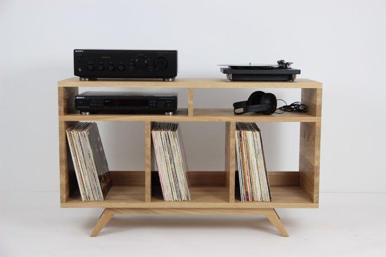 Turntable Console Record Storage Vinyl Storage Audio Etsy In 2020 Vinyl Storage Record Storage Vinyl Storage Sideboard