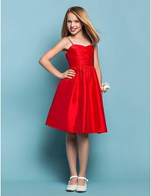 Mezuniyet Elbise Modelleri Kirmizi Diz Boyu Askili Klos Etek Saten Kadin Elbiseleri Cicekli Kiz Elbiseleri Nedime Giysileri