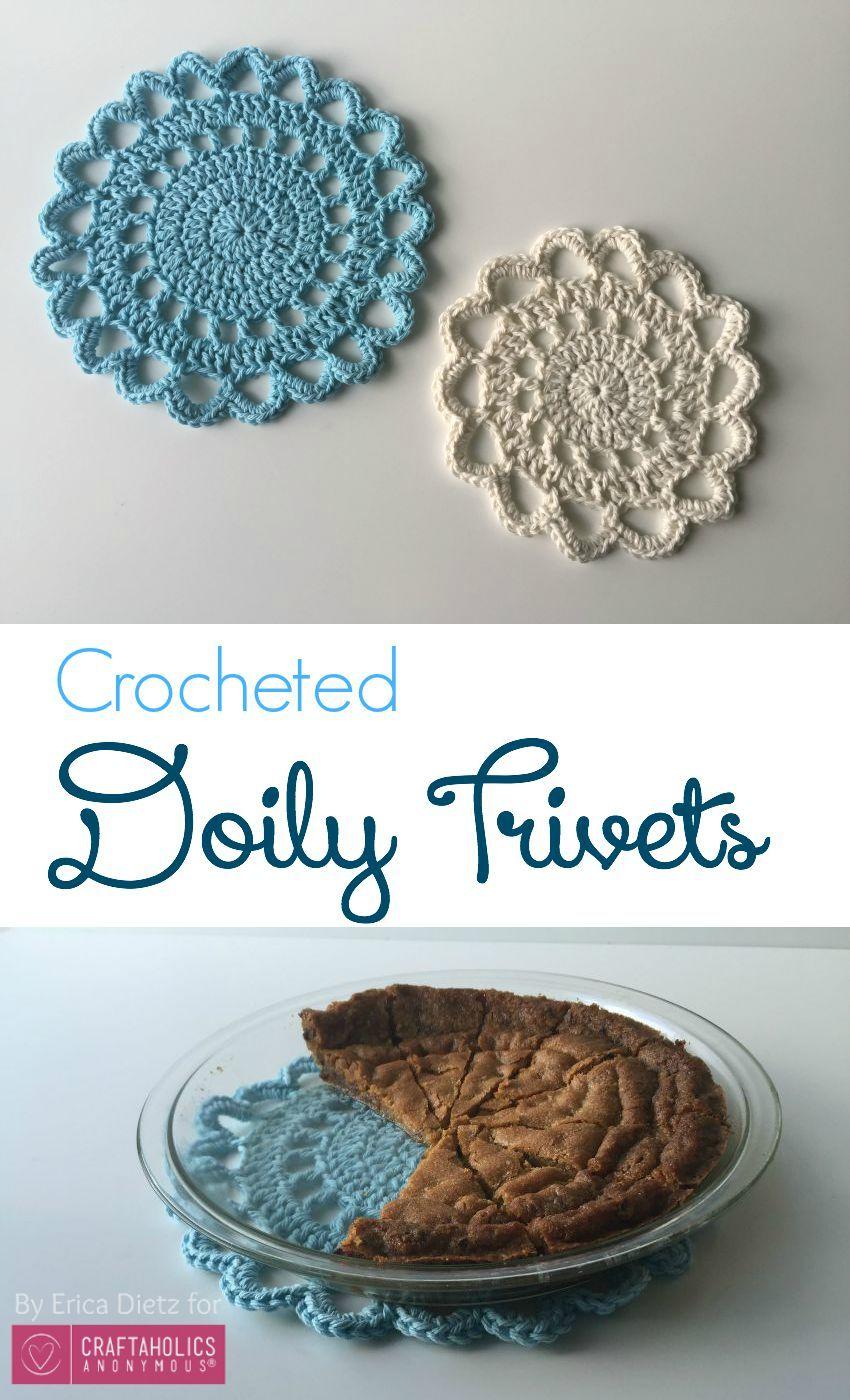 Crochet Doily Trivets | Ganchillo, Mandalas y Tejido