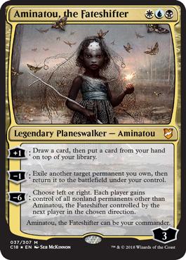 ***Custom Commander Deck*** Aminatou the Fateshifter EDH Magic Cards