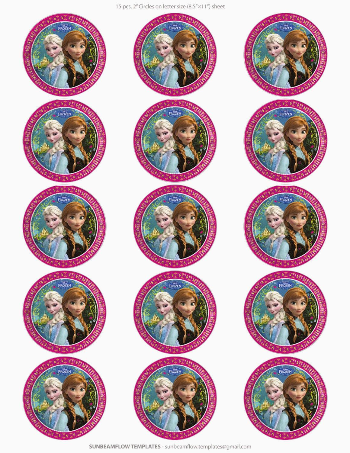 Frozen Free Printable Toppers