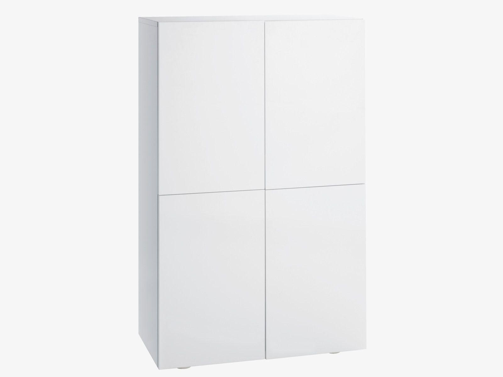 Aspen White High Gloss White 4 Door Cupboard Habitatuk Tall Cabinet Storage High Gloss White Cupboard