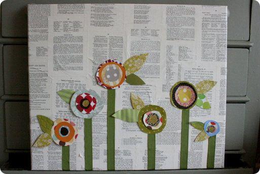 Crea cuadros reciclando hojas de libros