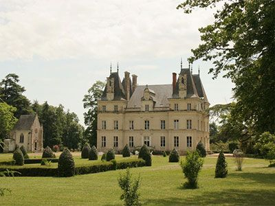 French Chateau for sale in 49 - Maine et Loire , Western Loire France. A beautiful XIXth C Château situated between Angers and La Fleche, 265 km from Paris by motorway. The Château offers 300 m2 of living accommodation on each floor. Original features include fireplaces, wood panelling, parquet floors and stone floors. Set in 12 ha grounds with substantial outbuildings including a former caretaker's house, situated at the entrance to the property, which is currently rented out. Tennis court.