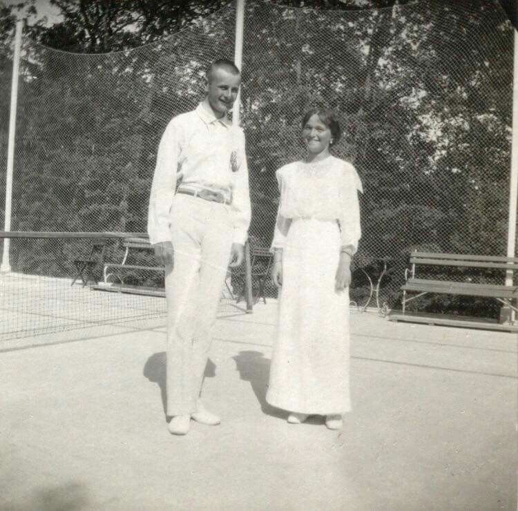 "Grand Duchess Olga Nikolaevna Romanova of Russia at tennis in 1914.   ""AL"""