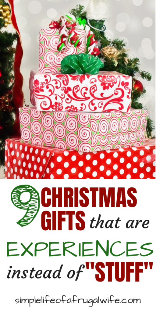 Give Gifts That Are Experiences Not Stuff This Christmas Christmas Gifts Toys Frugal Christmas Christmas Experiences