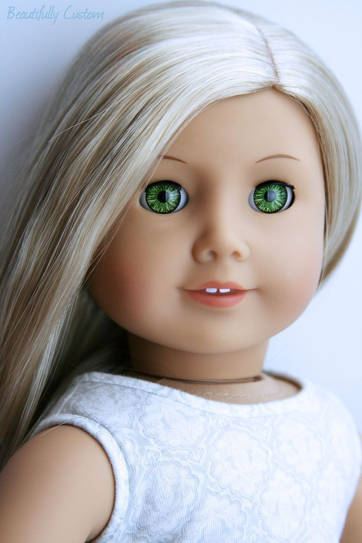 American Girl Doll Short Brown Hair Blue Eyes