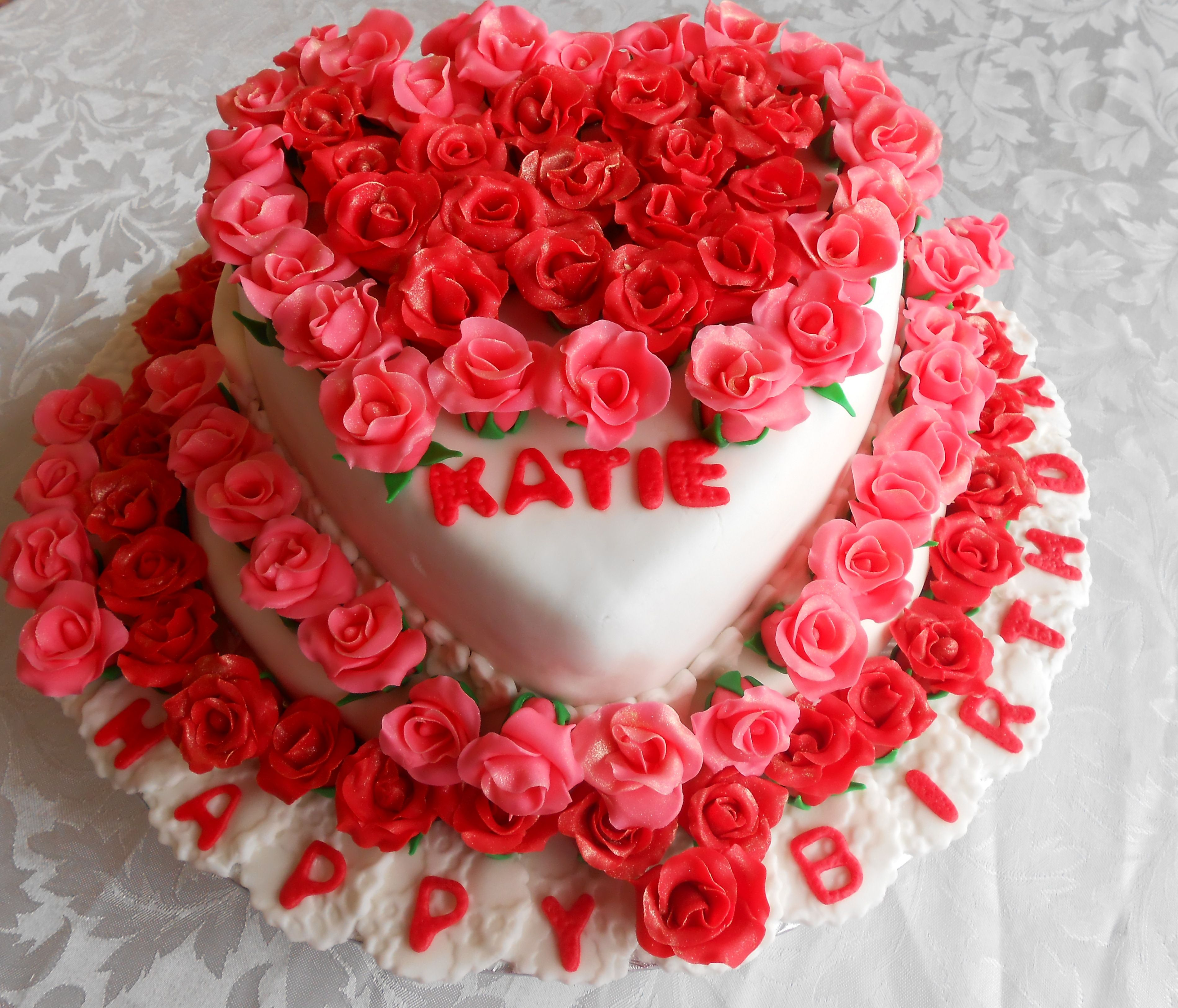 99 Roses Chocolate Cake Roses Heart Shaped Cake