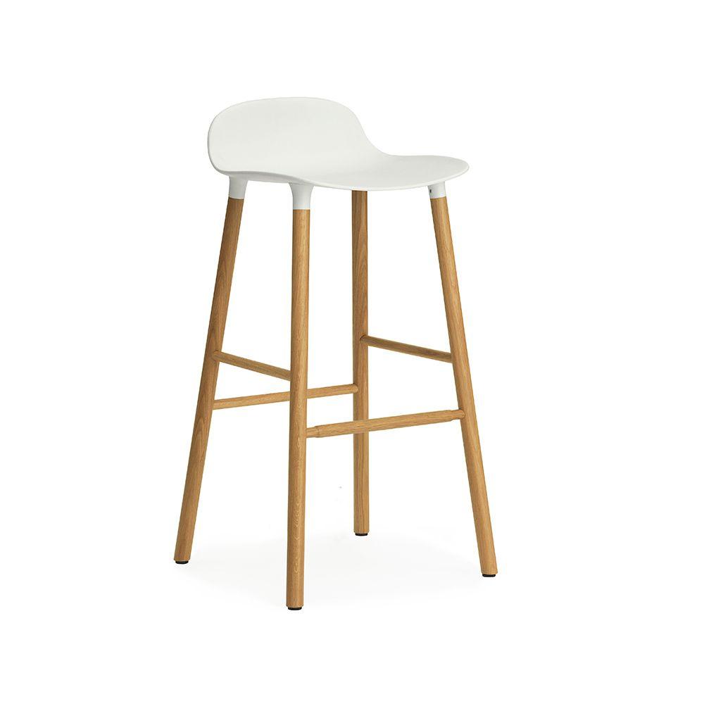 Form Baarituoli 75cm, Valkoinen/Tammi - Simon Legald - Normann Copenhagen - RoyalDesign.fi
