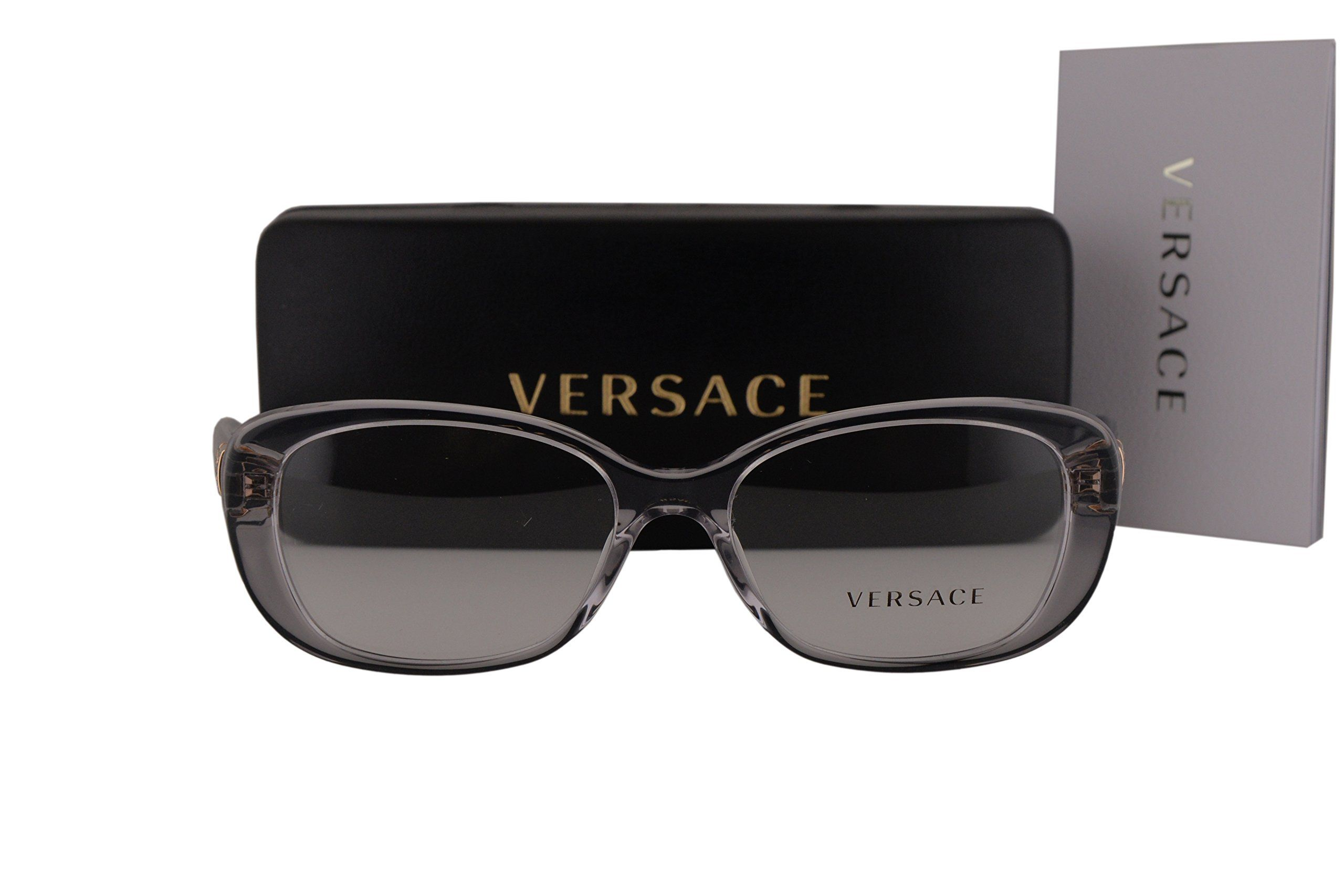 5f97dda6dad Versace VE3234B Eyeglasses 53-16-140 Gray Crystal 593 VE 3234B. Versace  Eyewear Collection. Model  VE3234B. Color Code  593 Gray Crystal w NON-WEAR…