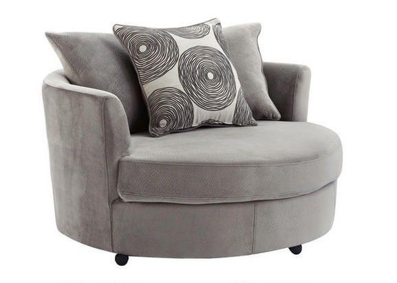 Zoey Grey Swivel Chair