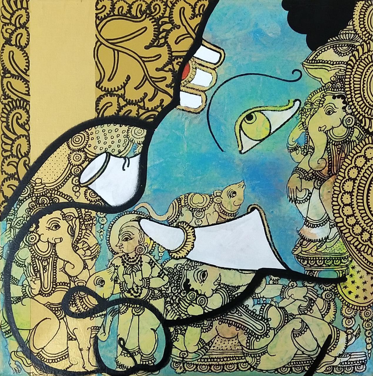 Artist name ramesh gorjala medium acrylic on canvas size