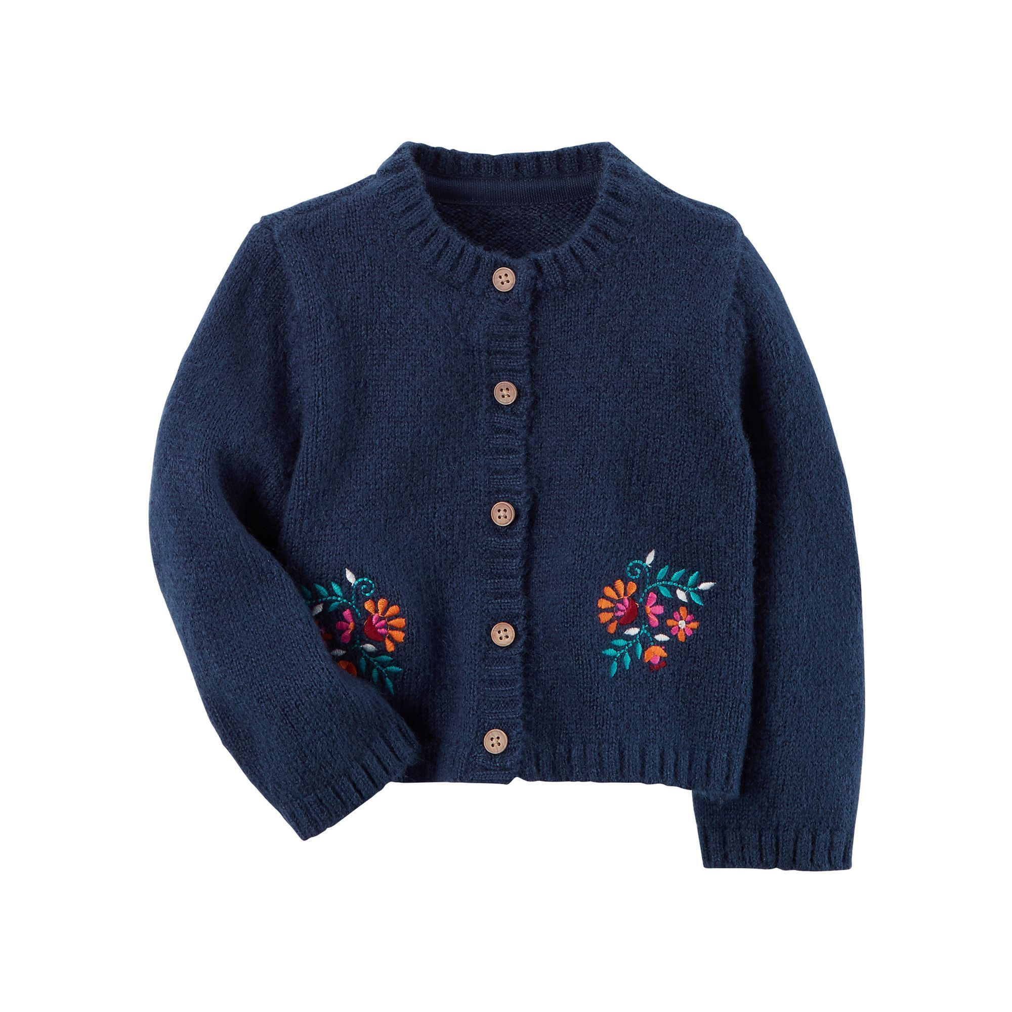 4d9b934609d1 Baby Girl Carter's Floral Embroidered Cardigan in 2019   Products ...