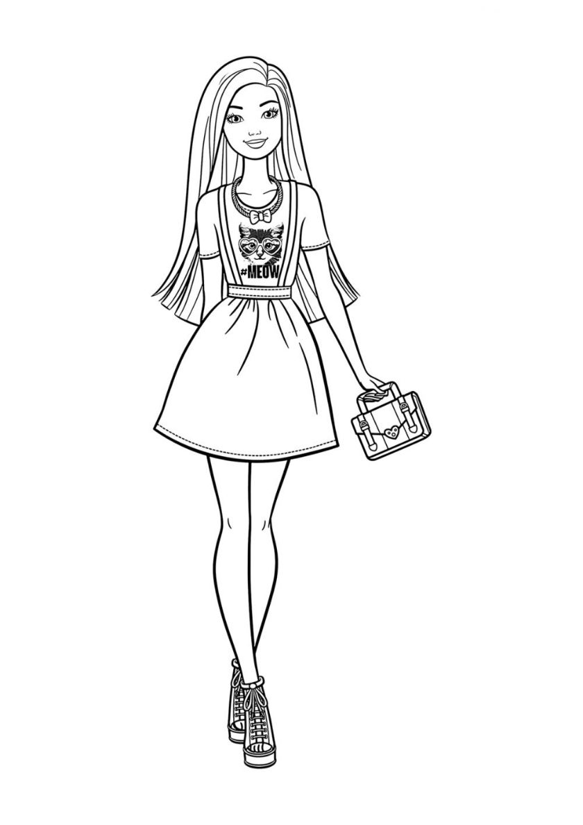 Rare Fashionista High Quality Free Coloring From The Category Barbie More Printable Pictures Barbie Coloring Barbie Coloring Pages Rapunzel Coloring Pages
