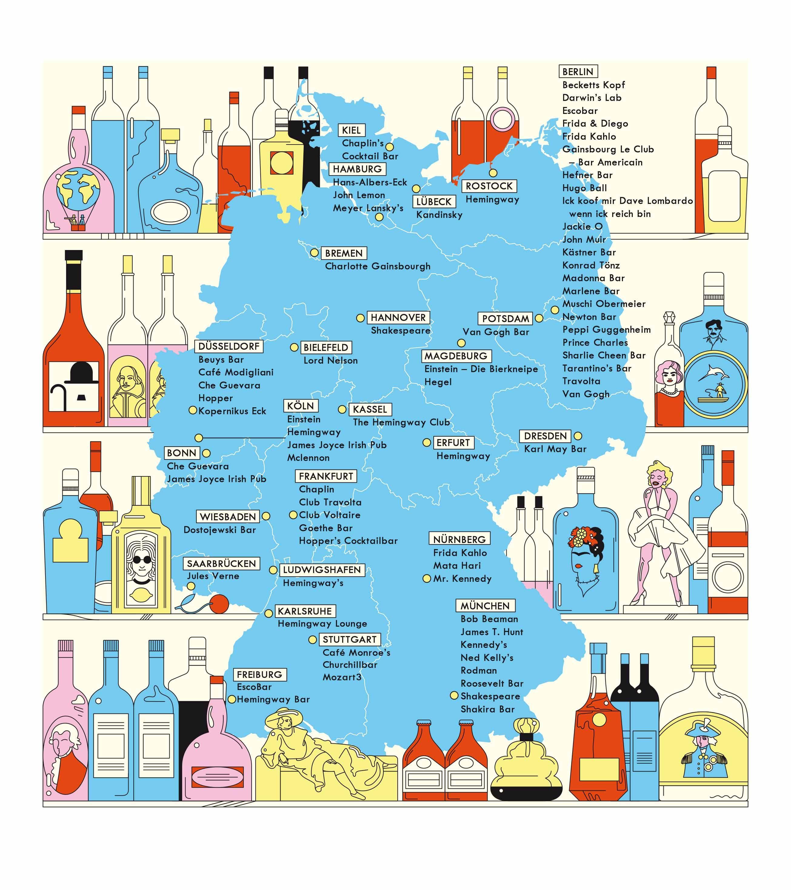 Deutschlandkarte 37 17 Lokale Die Nach Prominenten Benannt Sind