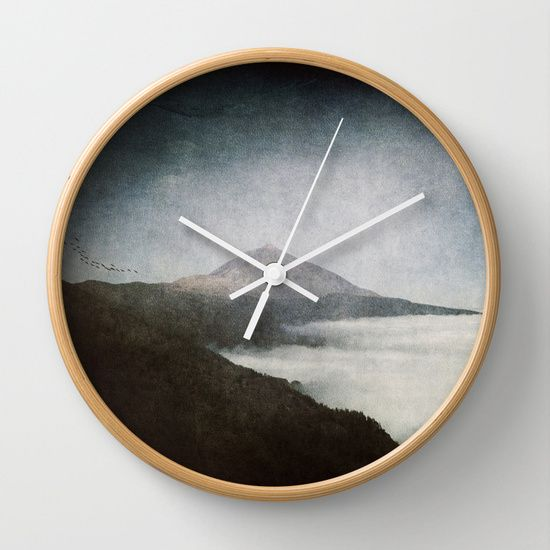 Teide and dust Wall Clock