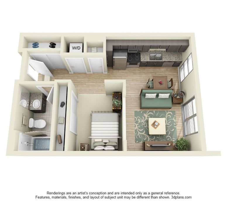 Find Studio Apartment: Drawings Of Self Contained Flat - Google Search